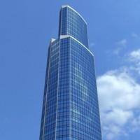 skyscraper 3d c4d