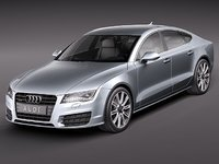 audi a7 sportback luxury 3d model