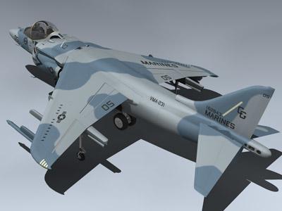 av-8b harrier ii vma-231 3d model