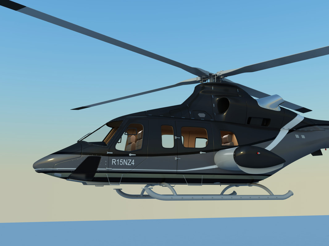 3d model bell 430 corporate helicopter interior