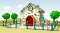 free max mode cartoon house