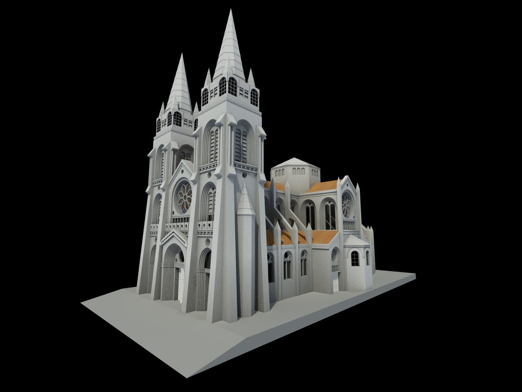 3d gothic cathedral