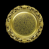 Decorative Gold Plate Pino Vismara