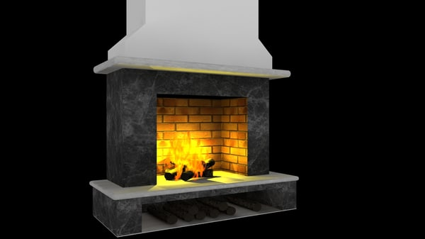 free fireplace 3d model
