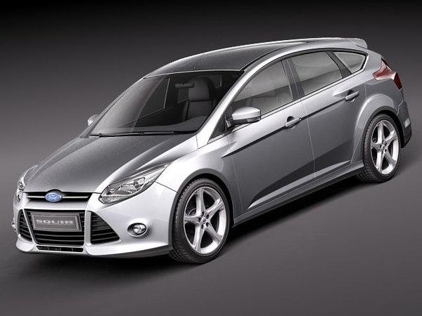 focus 5-door hatchback 3d model
