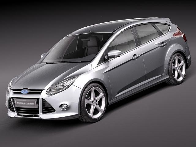 focus 5 door hatchback 3d model. Black Bedroom Furniture Sets. Home Design Ideas