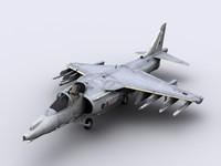 3d model harrier gr9