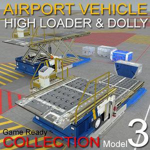 3 loader dollys airport max