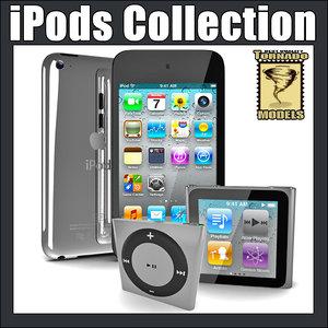 apple ipods 3d max