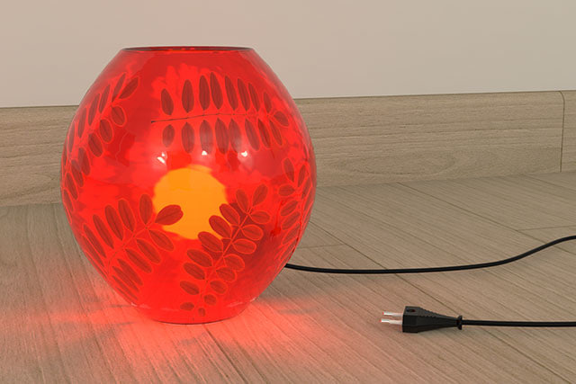 3d ikea knubbig lamp model