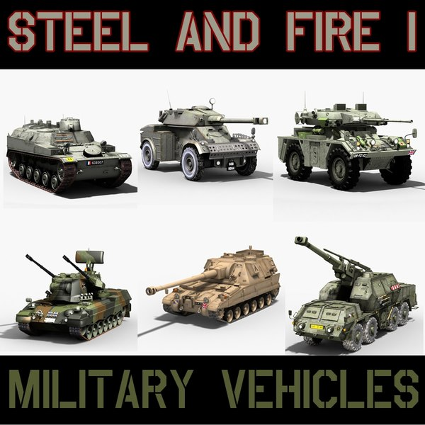 military vehicles 3ds