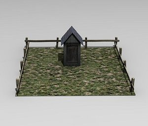 medieval outhouse 3d model