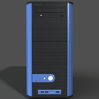 obj computer case modeled