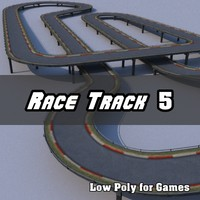 Low Polygon Race Track 5
