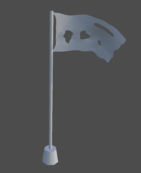 free pirate flag 3d model