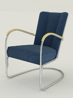 1000 gispen 412 Easy Chair by Willem Hendrik Gispen for Gispen, 1930s