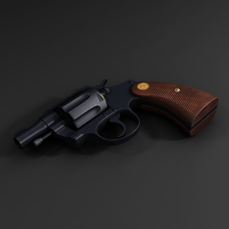 colt detective 3d model