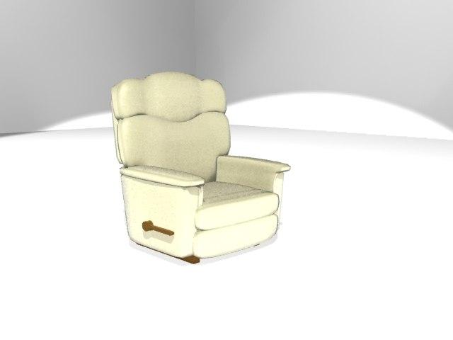 3d model la z boy rocking chair