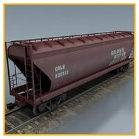3d model cargo wagon