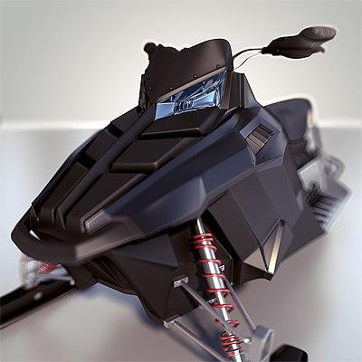 snowmobile - 3d model