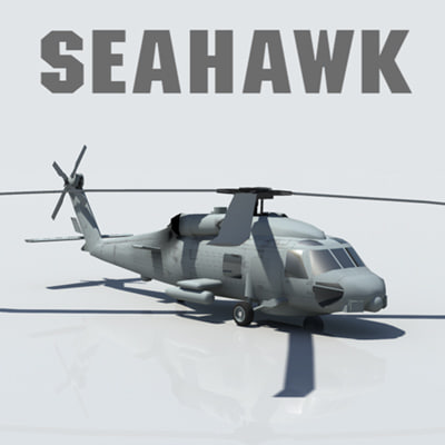 3d model sikorsky seahawk helicopter
