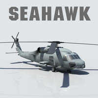 Seahawk Helicopter SH-70B low poly