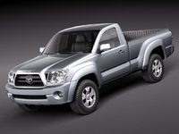 3d toyota tacoma single cab