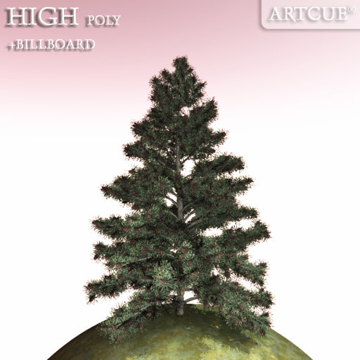 3ds tree high-poly billboard