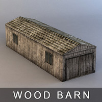wood barn 3d obj