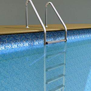 outdoor swimming pool 3d model