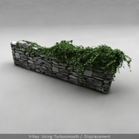 movie stone fence ivy 3d model