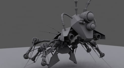 mechanical bug rigged ts 3d max