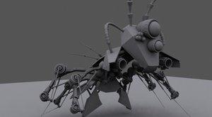 mechanical bug rigged ts 3d max