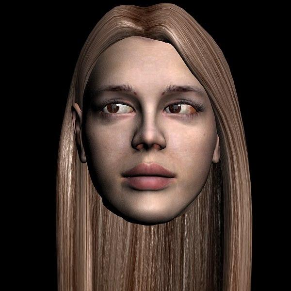 pretty girl head max