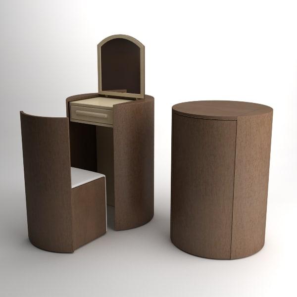 3d model dressing table