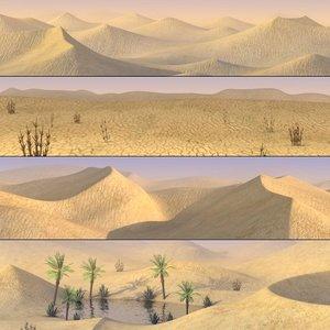 desert sand 3d model