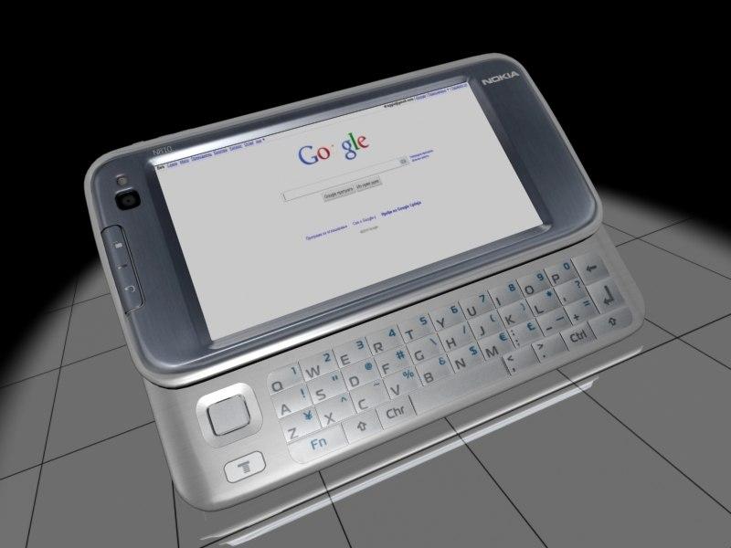 mobile phone nokia n810 3d model
