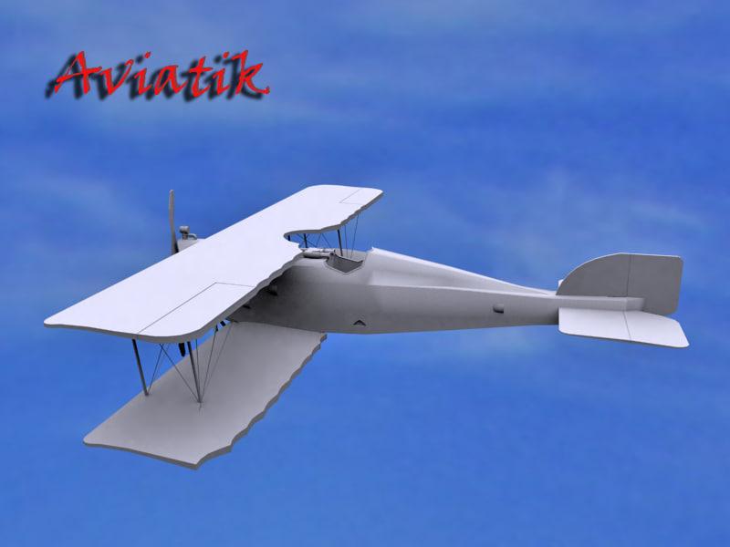 aviatik 3d model