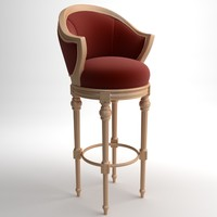 classical bar chair 3d model