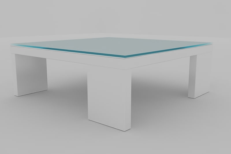 coffee table amber 3d model