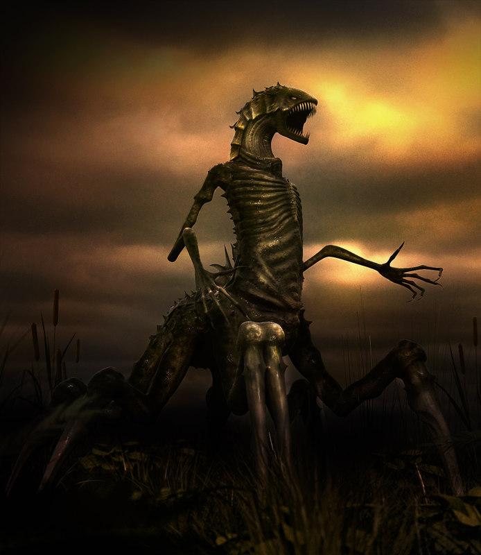 3d fantasy creature