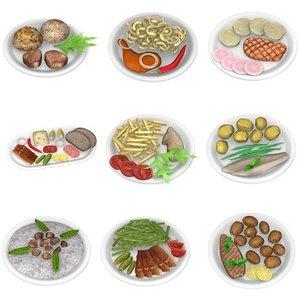 3d model meals food