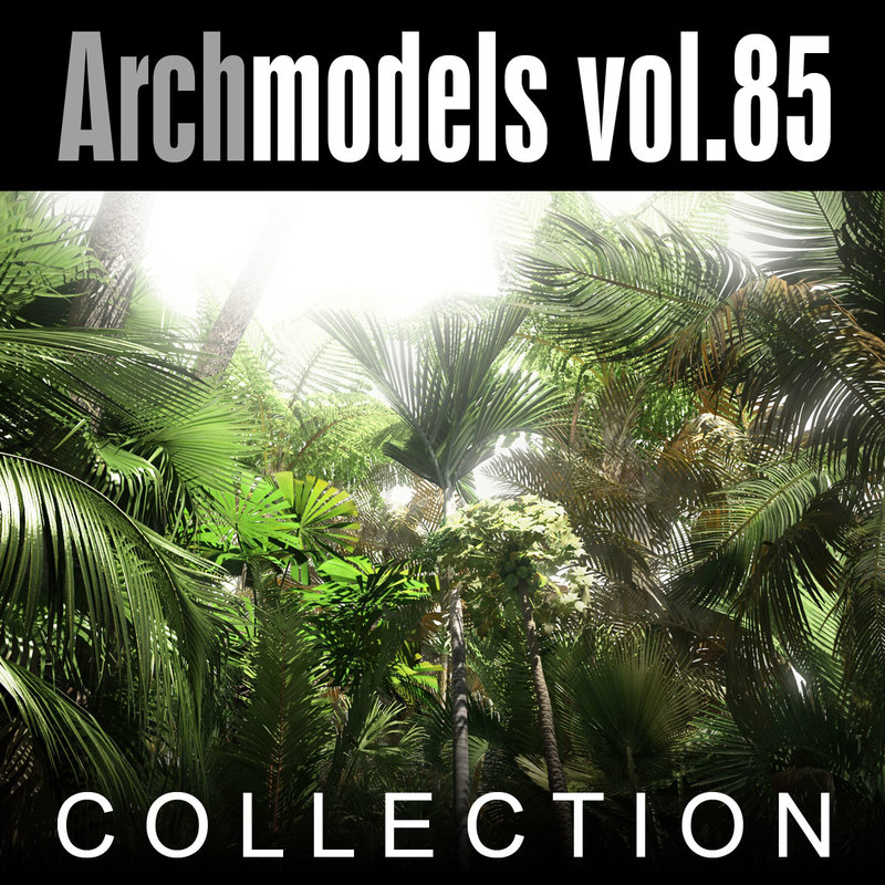 archmodels 85 trees 3d c4d