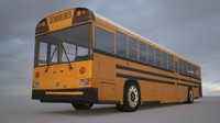 low-poly school bus 3d model