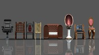 3d photorealistic chairs model