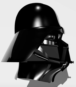 3d darthvader mask star