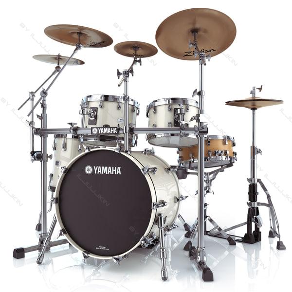 3d max acoustic drum sets yamaha