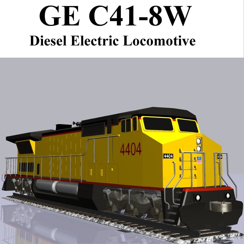 locomotive engine obj