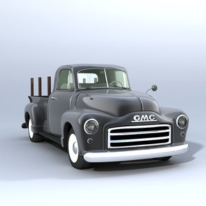 3d model of american gmc pickup truck