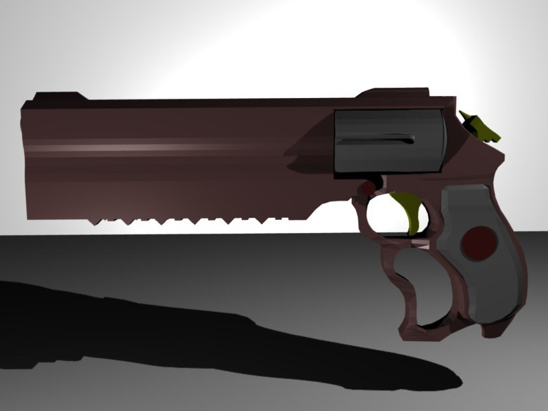 3d model pistol revolver